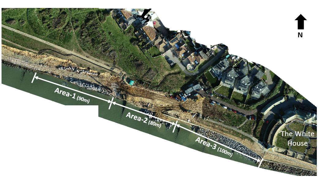 Site plan for urgent sea defence work at Westover, Milford on Sea